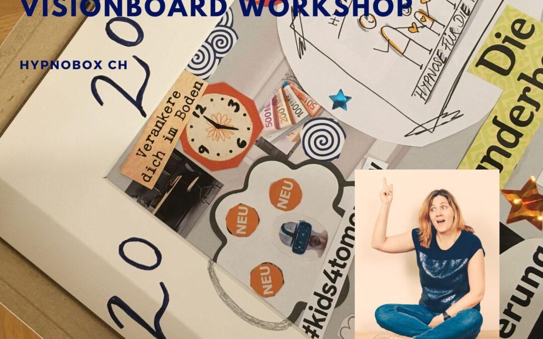 Vision board Workshop Ziele 2020